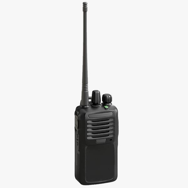 3D model portable digital way radio