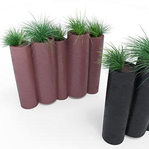 bamboo slide grass model