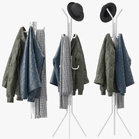 metal tripod stand coat rack model