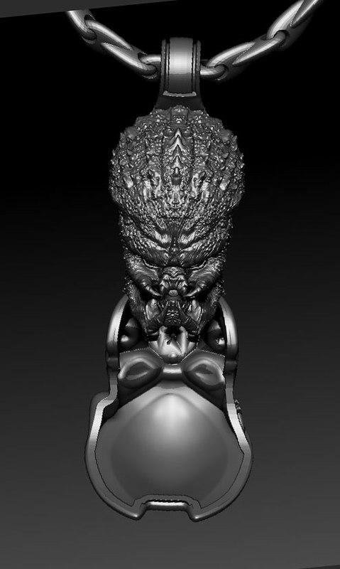 3D predator pendant jewelry