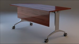 rigged 7 version desk 3D model