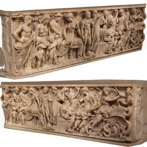 3D model sculpt coffin