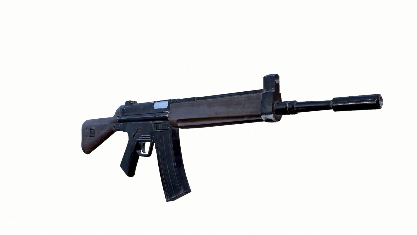3D old rifle hk33a2 model