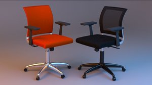 rigged office luxury chair 3D model