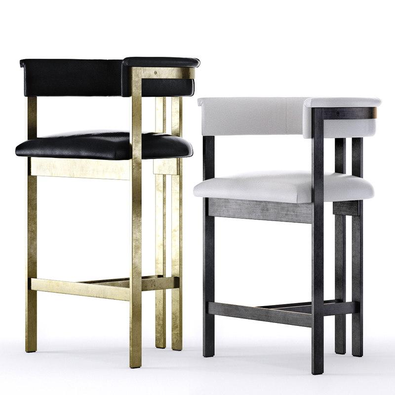elliot bar stool counter 3D model