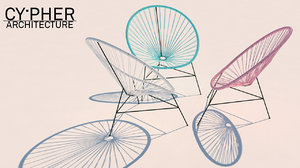 3D classic acapulco chair model