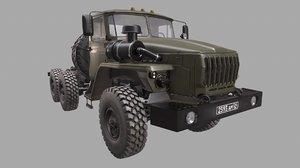 truck russian russia 3D model