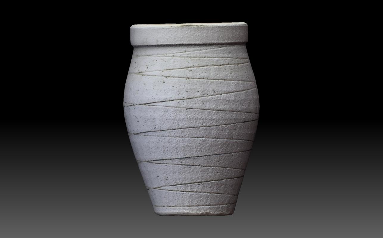 3D model vase scanned