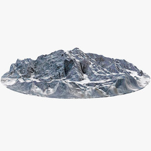 3D model denali mount