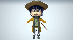 hunter character model