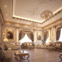 lounge room scene 3D