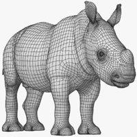 3D rhino baby