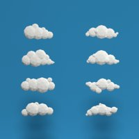 8 Low Poly Clouds Bundle