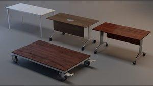 rigged 4 office desk 3D