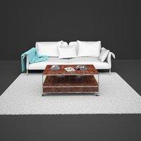 living room sofa coffee table 3D