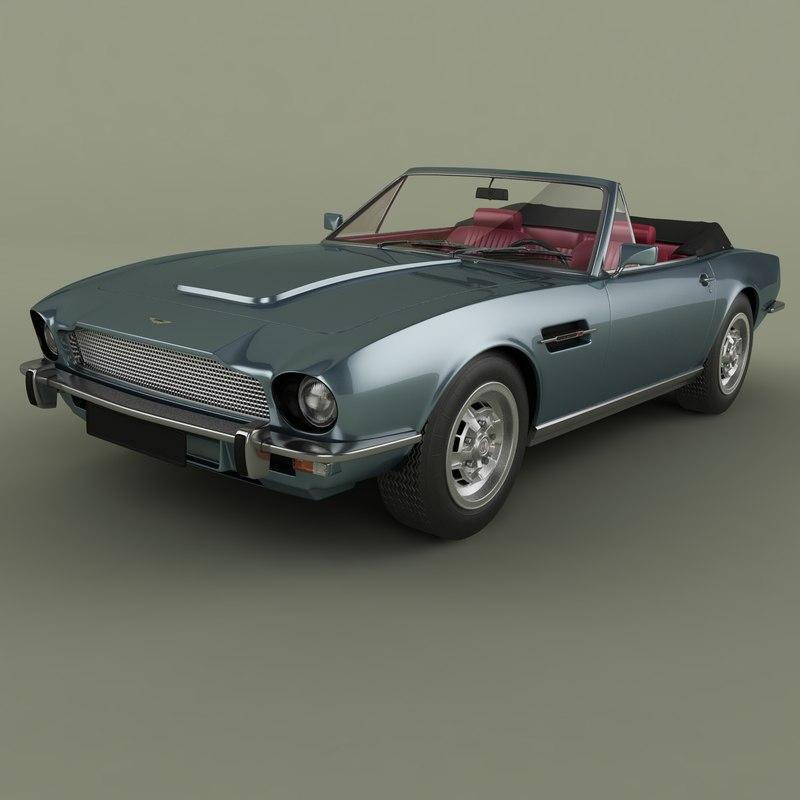 1977 Aston Martin V8 3D Model