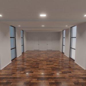 3D model modern interior scene 1