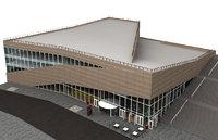 molde building architectural 3D model