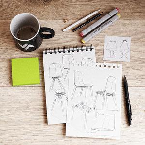 desk items 3D model