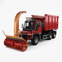 3D mercedes-benz unimog u530 model