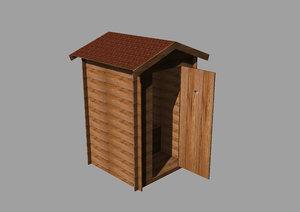 3D garden toilet