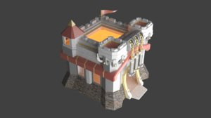 town hall level 11 3D model