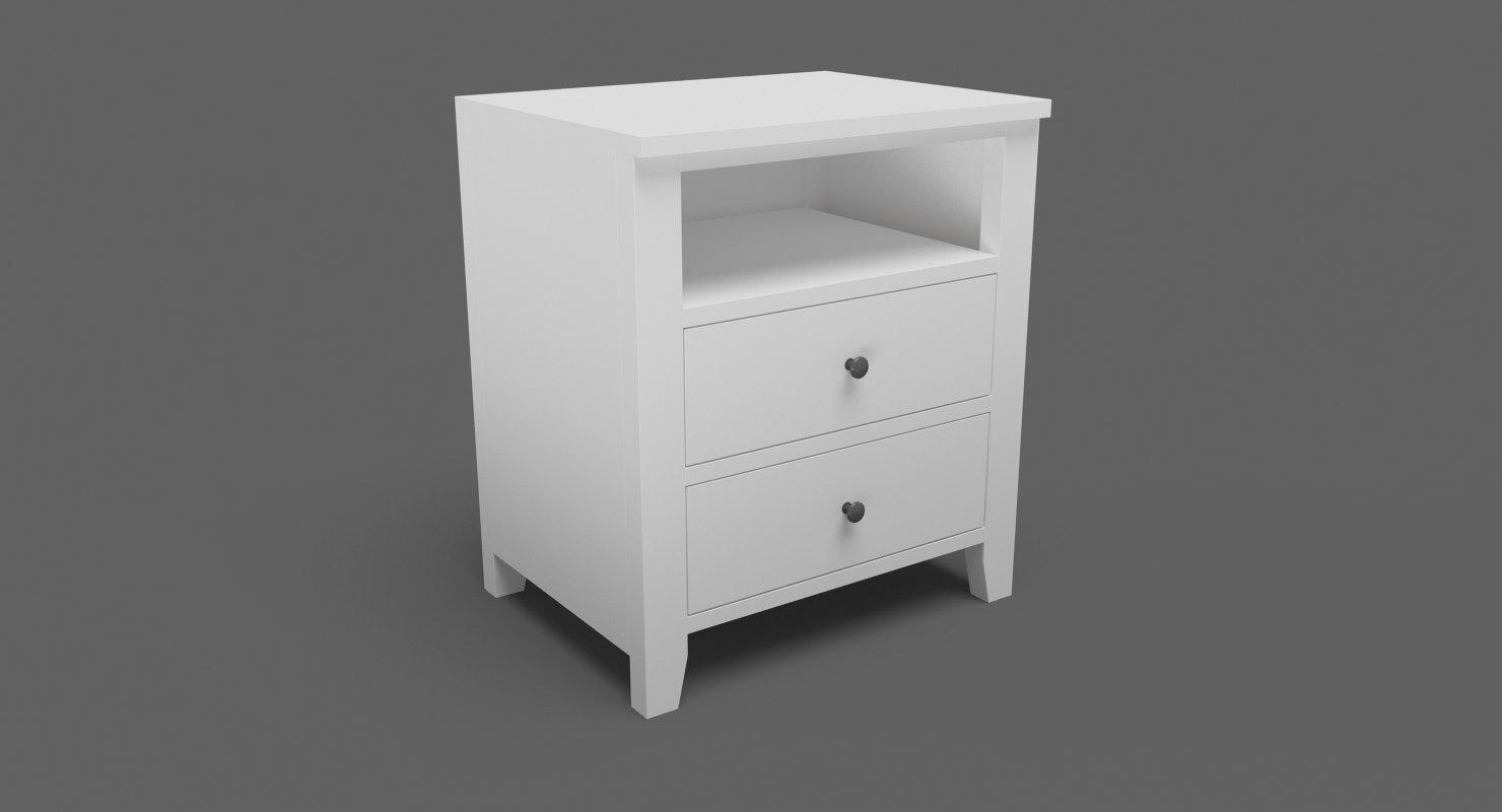 3D model bedside table 04
