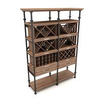 3D wine rack model
