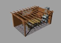 pergola fireplace model
