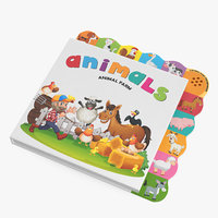 children s music book 3D model