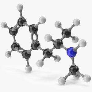 3D model methamphetamine molecular meth