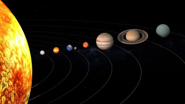 3D solar planets
