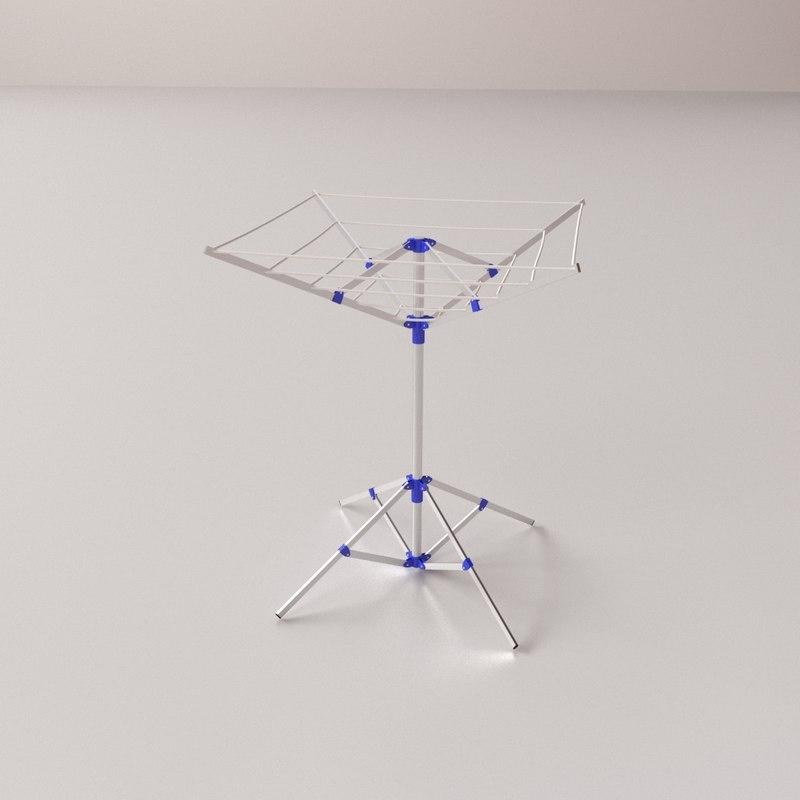 3D portable clothesline