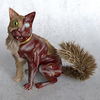 zombie cat 3D model