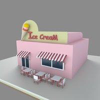 3D model icecream shop