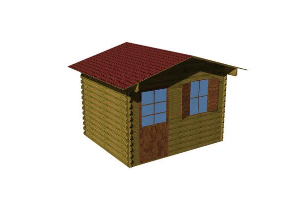 wooden chalet 3D model
