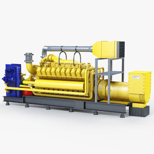 3D industrial engine model