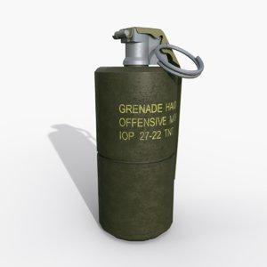 grenade mk3a2 3D