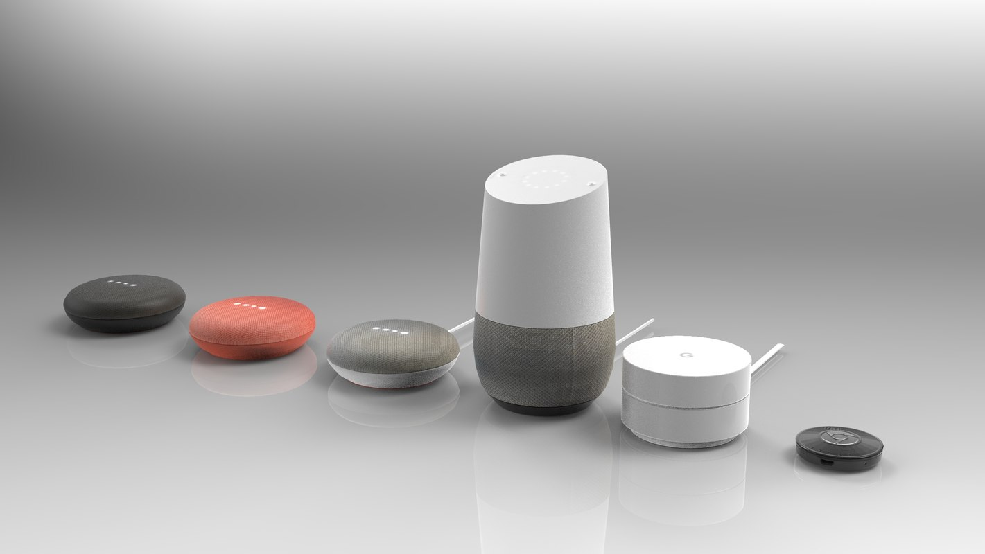 google home devices 3D model