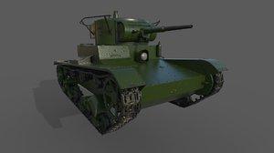 soviet tank t-26 3D model