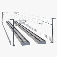direct railway section rail 3D model