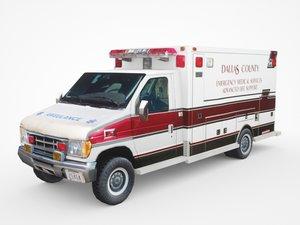 generic ambulance v9 3D model