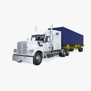 truck 48ft iso container 3D model