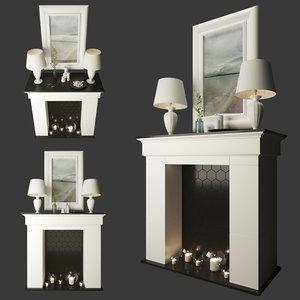 3D decorative fireplace lamps