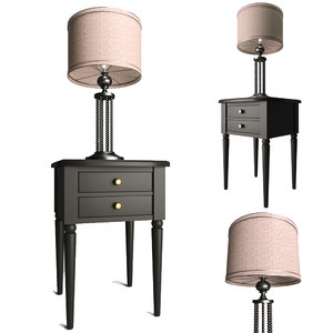 bedside table classic furniture model