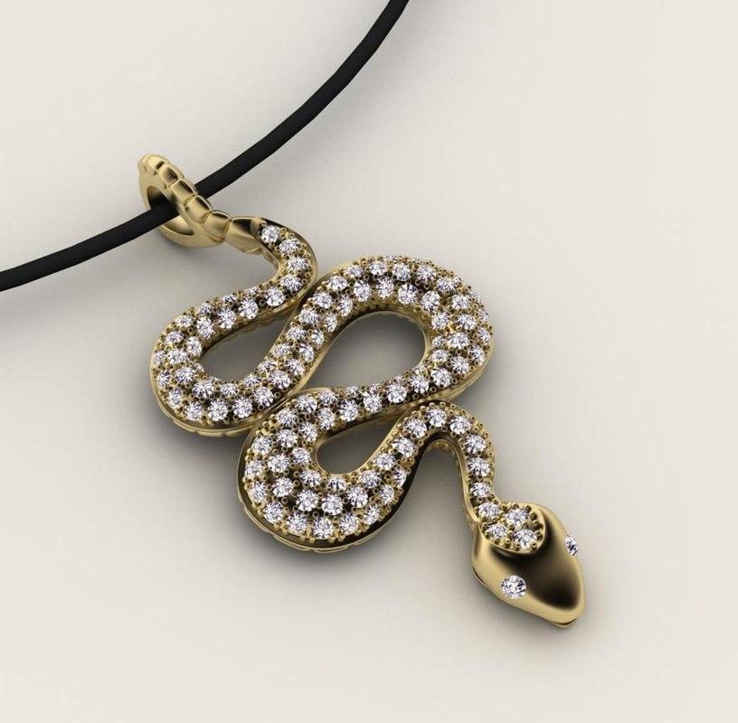 pendant necklaces jewelry 3D model