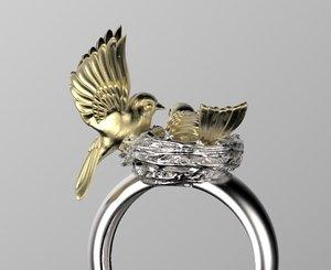 birds nest ring model