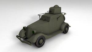 3D ba 20 russian armored model