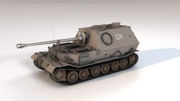 3D military tank sd kfz model