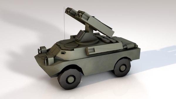 3D model gaskin sa-9 missile launcher